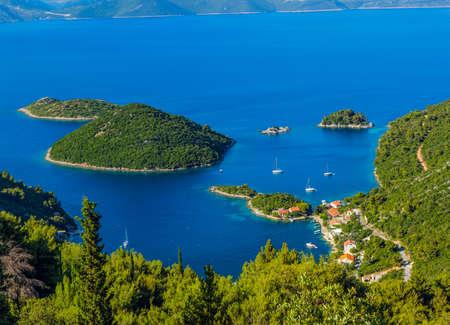 Adriatic landscape panorama on island Mljet, Dubrovnik archipelago, Croatia.