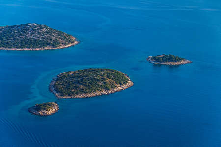 Adriatic landscape aerial helicopter photo. Location: Croatia, near Biograd. Photo taken on: July 06th, 2012 photo