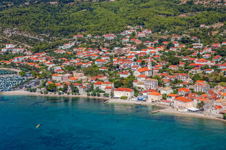 Small town Orebic, Peljesac peninsula, Croatia. Well known tourist destination. Stock Photo - 16693951