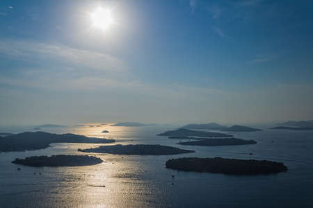 Adriatic landscape from aerial helicopter. Croatia, near Murter. Stock Photo - 16694043