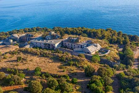 barracks: Old military barracks from World War II. Near Rovinj, Croatia