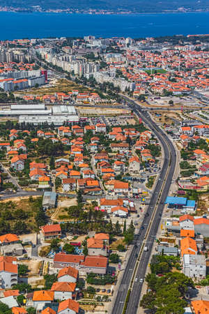 Aerial shot of Zadar new part, residential area, Croatia.