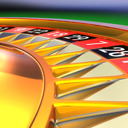 Golden roulette detail 3D rendering illustration. Photo - Realistic rendering. Stock Illustration - 18362880