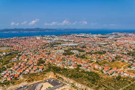 Aerial shot of Zadar new part, residential area, Croatia. photo