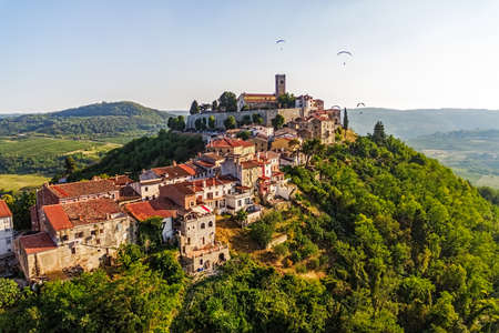 Motovun is a small village in central Istria (Istra), Croatia. City containing elements of Romanesque, Gothic and Renaissance styles.