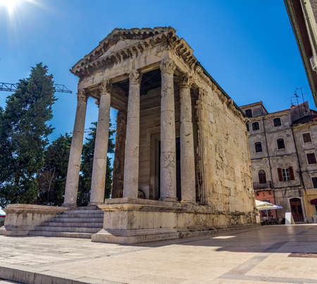 augustus: Roman temple of Augustus in Pula, Croatia.