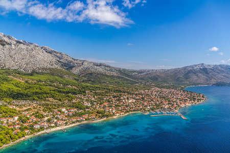 Small town Orebic, Peljesac peninsula, Croatia. Well known tourist destination. Stock Photo