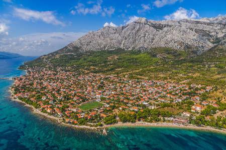Small town Orebic, Peljesac peninsula, Croatia. Well known tourist destination.