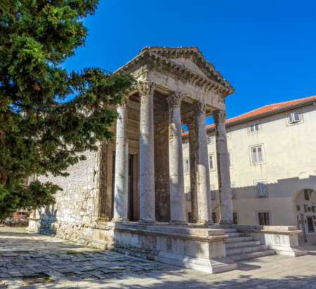 Roman temple of Augustus in Pula, Croatia. photo