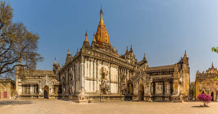 Ancient Ananda Temple in Old Bagan, Myanmar  photo