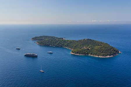 Lokrum 섬 및 자연 공원 근처 Dubrovnik, 크로아티아