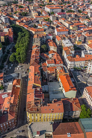Aerial panorama of Pula old town, Istria, Croatia. photo