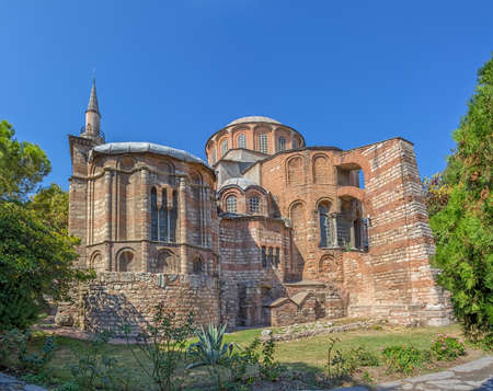 chora: Iglesia de Chora y el museo de la m�s bella iglesia bizantina despu�s de Santa Sof�a en Estambul, Turqu�a.