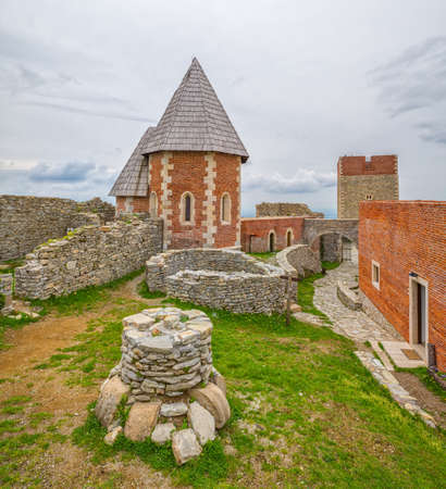 renewed: Chapel and walls on Medvedgrad castle in Zagreb, Croatia Editorial