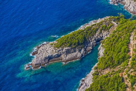 Reef on Elaphites island Lopud - Dubrovnik archipelago.