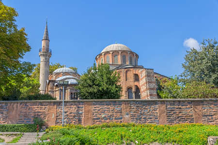 chora: Chora Church detail with dome is the most beautiful Byzantine church after Hagia Sophia. It is situated in Edirnekapi neighborhood of Istanbul, which lies in the western part of the municipality of Fatih.