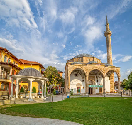 fatih: Pristina, Kosovo - July 29, 2014 Fatih Mosque is the main city mosque and it is located in the center of the old town. Islam is the main religion in Kosovo
