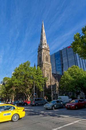scots: MELBOURNE, AUSTRALIA - MARCH 16, 2015: Scots Church is famous landmark on the Collins Street.
