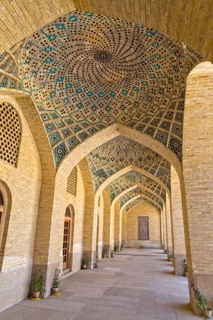 passages: Arcade hall passages of the Nasir al-Mulk Mosque is a traditional mosque located in Goad-e-Araban place in Shiraz.
