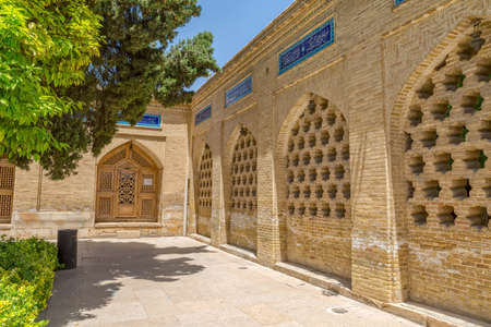 shiraz: SHIRAZ, IRAN - MAY 2, 2015: Traditional buildings around the tomb of Hafez, an iranian great poet. Editorial