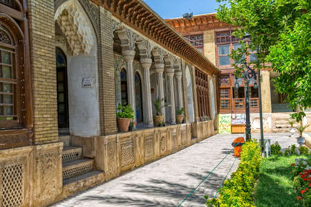 shiraz: SHIRAZ, IRAN - MAY 2, 2015: Zinat ol Molk House inner courtyard it is a private house turned into a museum.