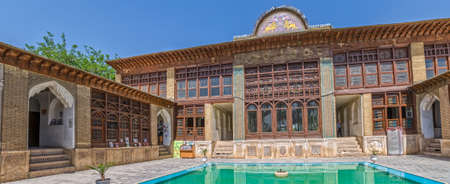 fars: SHIRAZ, IRAN - MAY 2, 2015: Zinat ol Molk House inner courtyard it is a private house turned into a museum.