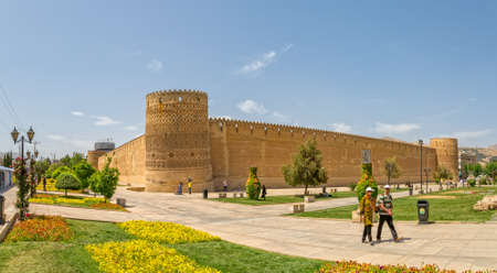 shiraz: SHIRAZ, IRAN - MAY 2, 2015: Vakil Fortress of the old citadel Karmin Khan in the centre of the city.