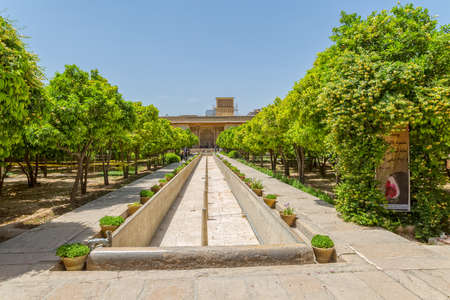 shiraz: Inside garden of the old citadel Karmin Khan in the centre of the Shiraz city.