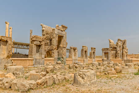 fars: Ruins of old city Persepolis, a capital of the Achaemenid Empire 550 - 330 BC.