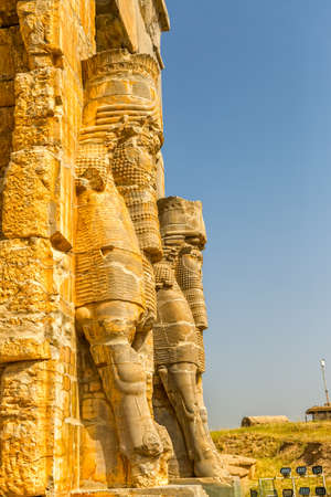 nations: Xerxes Gate of nations with Lamassu statues at the entrance of the old city Persepolis.