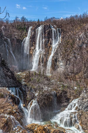 rebuild: Vegetation just before it begin to rebuild after long winter. Plitvice lakes national park in Croatia.