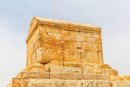 fars: Tomb of Cyrus the Great is the most important monument in Pasargadae old ruins near Shiraz, Iran. Stock Photo