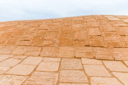 the silence of the world: Disused old building roof detail at the foot of the Tower of Silence in Yazd, Iran.