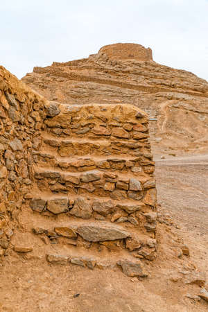 the silence of the world: Detail of the disused old building at the foot of the Tower of Silence in Yazd, Iran.