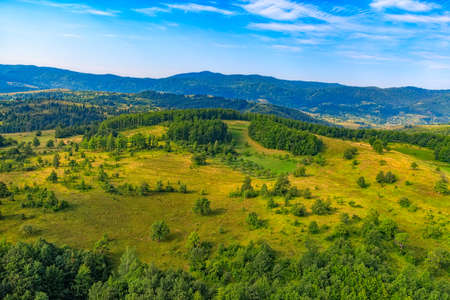 weald: Helicopter aerial photo of the mountain nature in Montenegro continental part.