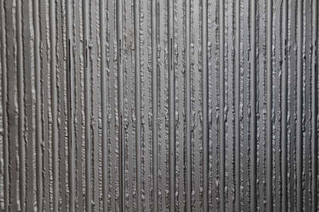 deconstruct: Metal panel made of rounded steel pipes. Ideal metallurgical weld. Stock Photo