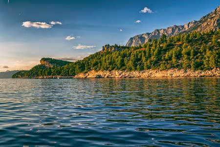 croatian: Tucepi sea shore Stock Photo