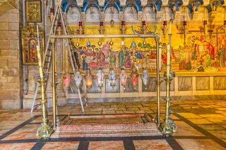 Stone of Anointing in Holy Sepulchre Church