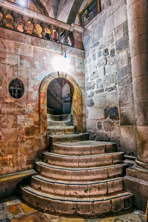 Holy Sepulchre Church stairs Stock Photo