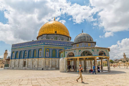 Dome of the Rock visitors Jerusalem Editorial