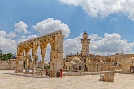 dome of the rock: Temple Mount old architecture Jerusalem Editorial