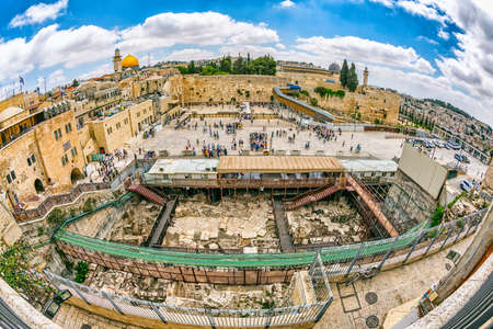 Western Wall Jerusalem fisheye view