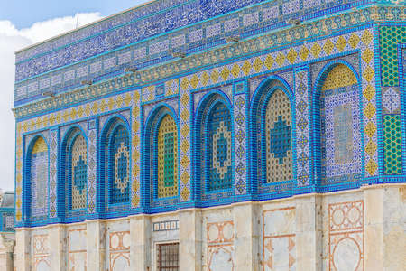 Dome of the Rock tiled mosaic wall
