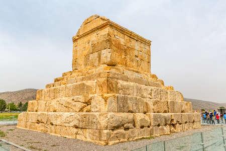Pasargad Great Cyrus tomb Editorial