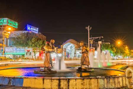 Yazd city by night
