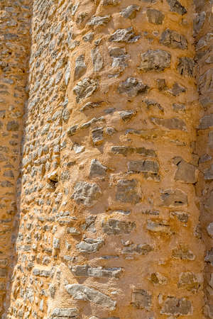 Pre-romanesque church rounded wall Stock Photo