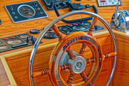 Boat rudder wheel