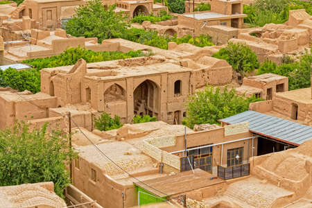 Meybod Iran aerial view 스톡 콘텐츠