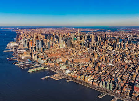 New York Manhattan aerial view