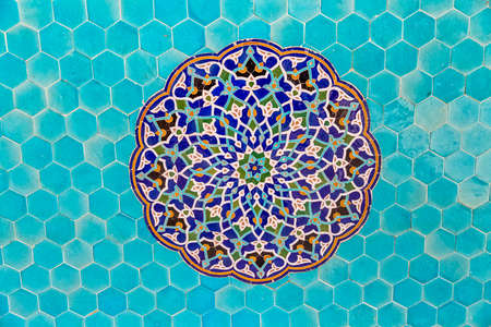 Colorful tiles in Iran